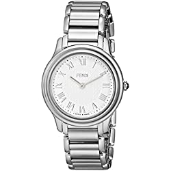 Fendi Classico F251034000 32mm Silver Steel Bracelet & Case Synthetic Sapphire Women's Watch