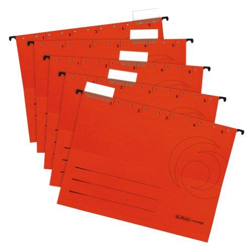 Preisvergleich Produktbild Herlitz 5874698 Hängemappe rot 5er Packung