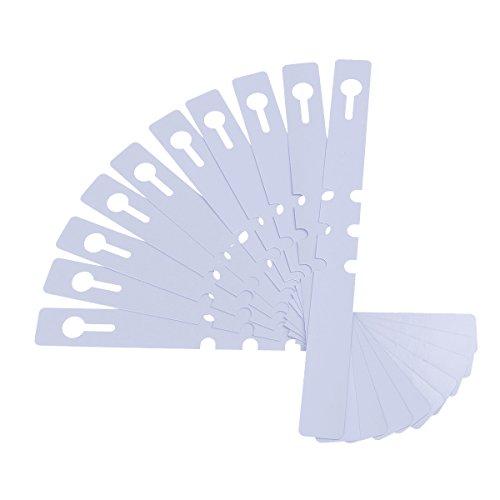 OUNONA Marcadores para Plantas Etiquetas de Plantas Arboles Plástico Impermeable 2x20cm Blanco...