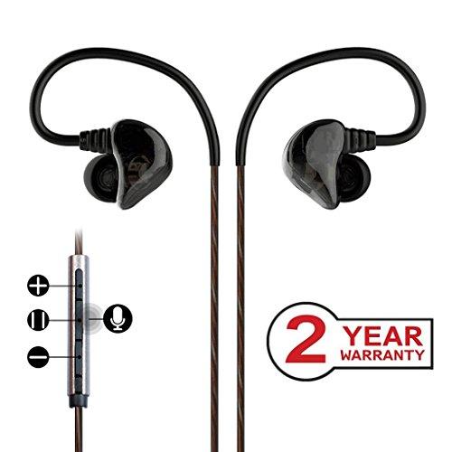 Avantree DUAL DRIVER In Ear Monitor, Satter Bass Ohrhörer, High Definition Sport Ohrhörer, Geräusche isolierende Kopfhörer mit Mikrofon & Musik Steuerung - D18