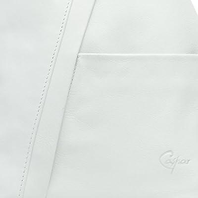 CASPAR TL782 Mochilo 2-en-1 Bolso de Hombro de Cuero Genuino de Italia
