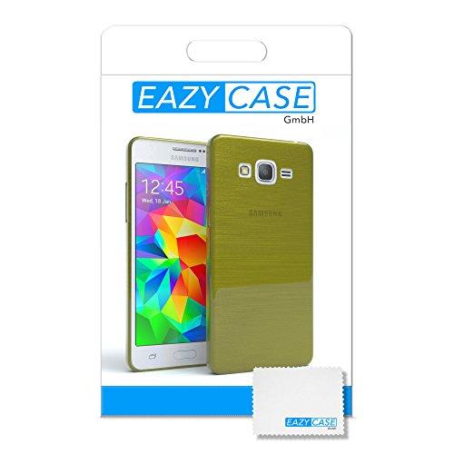 Samsung Galaxy Grand Prime Hülle - EAZY CASE Ultra Slim Cover Handyhülle - dünne Schutzhülle aus Silikon in Transparent Brushed Grün