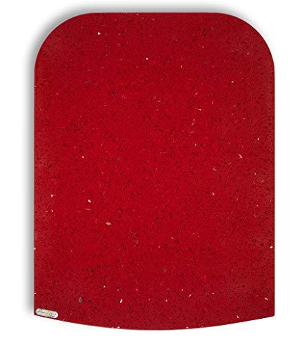 Stone4Slide® Thermomix Gleitbrett Gleiter TM6 TM5 TM31 aus Quarz-Stein Fire Red