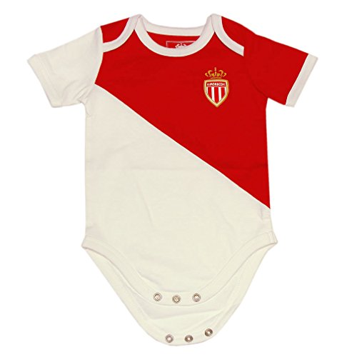 AS Monaco - Body Bébé 'AS Monaco' Officiel - Blanc, Rouge