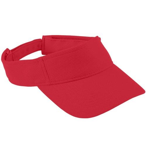 Adult Adjustable Wicking Mesh Visor RED OS (Augusta-mesh-visor)