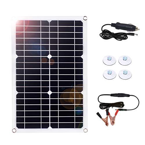 SARONIC Manutentore di pile Solari 18 Volt 18 watt Caricabatteria per Auto Solare per Auto Caricabatterie per Auto