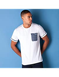 VOI Mens Jeans Mens Vear T-Shirt in White - L