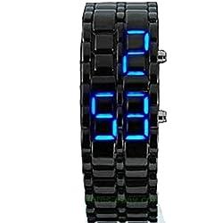 So siehe schwarz Lava Herren Frauen Armband gesichtslose blau LED Volcanic Handgelenk Uhren