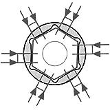 Famex Steckschlüsselsatz mit 72 Zahn Knarren - 12,5 mm, 1/2-Zoll und 6,3 mm, 1/4-Zoll, Antrieb - 4-32 mm, 120-teilig, 568-FX-46 -