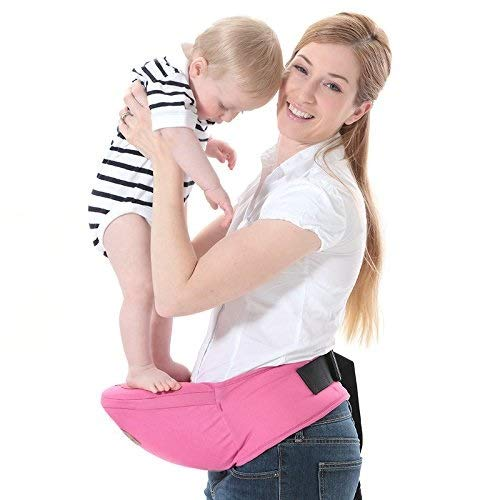 (HEXL Babytragebänder , Komfortable Baby-Hüftsitztrage Einstellbar 0-3 Jahre Alt Multifunktions-Fronthalterung Vier Jahreszeiten Transparent (20kg) (Farbe : B))