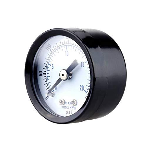 Lorsoul 0-20bar 0-300psi Mini-Manometer Manometer Luftverdichter Pneumatische Hydraulikfluiddruck-Meter Prüfvorrichtung -