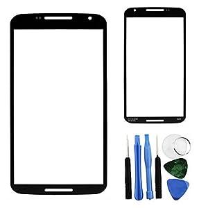 BisLinks® Outer Bildschirm Linse Front Glas + Tools für Motorola Google Nexus 6 XT1100