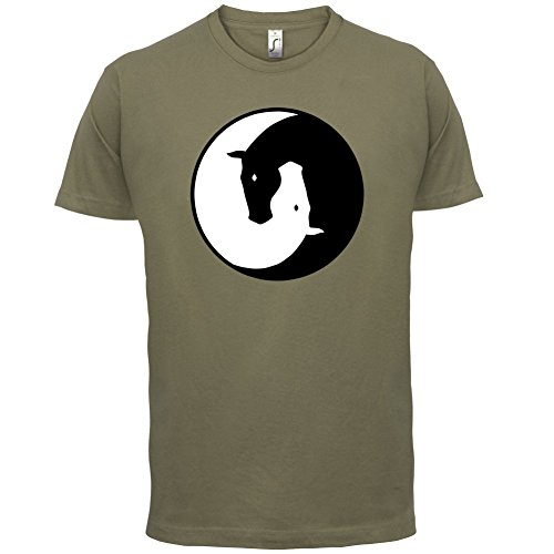 Yin Yang Pferd - Herren T-Shirt - 13 Farben Khaki