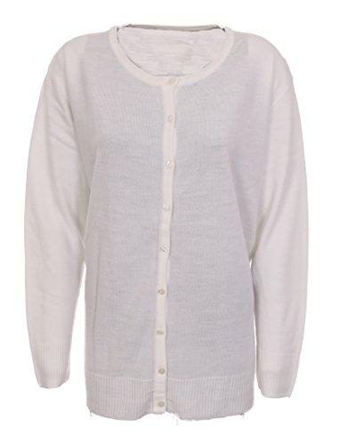 Lets Shop Shop - Gilet - Femme Multicolore Bigarré Blanc