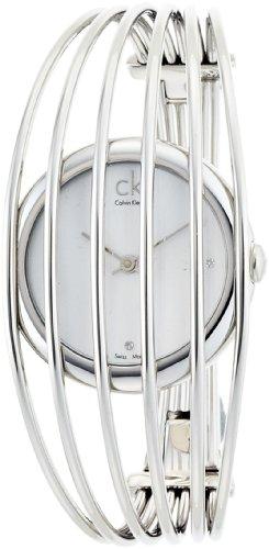 Calvin Klein Fly K9924126 - Reloj de mujer de cuarzo, correa de acero inoxidable color plata