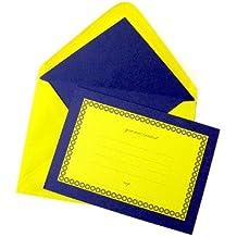 Miocarditis y cebra 10 invitaciones de púrpura y amarillo con sobres forrados