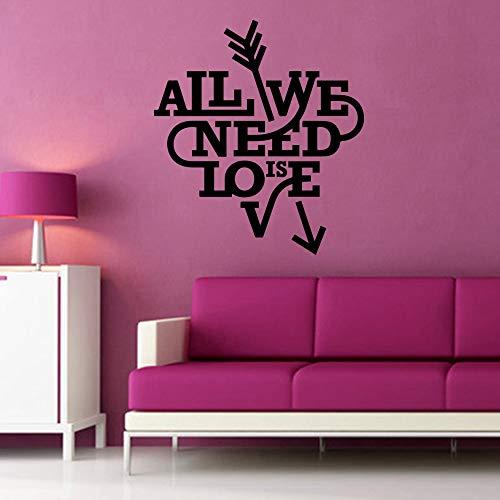 zzlfn3lv Classic Love Aron Stickers Muraux Ameublement Décoratif Sticker Mural pour Enfants Chambres Home Decor Lit Chambre Decor58 * 64 cm