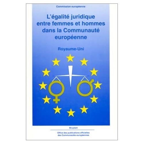 L'égalité juridique entre femmes et hommes dans la Communauté européenne: Royaume-Uni