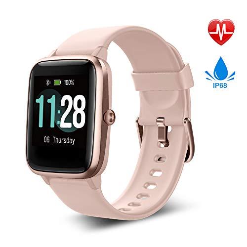 Fitpolo Smartwatch, Fitness Armband Voll Touchscreen 5ATM Wasserdicht,GPS Schrittzähler Uhr,Pulsmesser,Musiksteuerung, Aktivitätstracker,Smartwatch für Samsung iPhone,Fitness Uhr Herren Damen Kinder