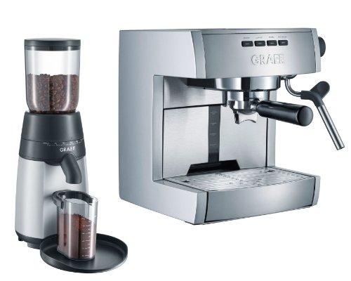 Graef ES70EU Set - Cafetera espresso + CM 70