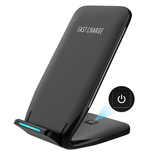 Holife Wireless Charger, Type-C Port Fast Wireless Charger mit Schnellladefunktion für Samsung Galaxy Note 8/S8/S7/S6 Edge Plus/Note 5, Normale Aufladung für iPhone 8/X und alle Qi-fähige Geräte