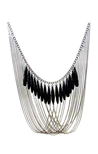 sodialrnegro-borlas-multi-capas-drapeado-colgante-collar-cadena