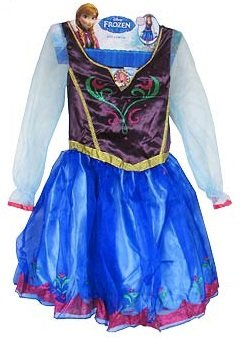 Walt Disney's Frozen Anna Girls Roleplay Costume Dress Size Age 4X - ()