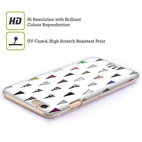 Head Case Designs Triangolo Doodle Pattern Colorati Cover Retro Rigida per Apple iPhone 7 Plus / 8 Plus Triangolo