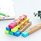 1pièce Kawaii papeterie rectangle 2B crayon en caoutchouc gomme étudiant Prix Cadeau solide Couleur souple gomme d'école d'alimentation taille unique aléatoire...