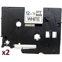 2 x TZe231 12mm x 8m Negro sobre Blanco Cinta de etiquetas compatible con Brother P-Touch PT-1000 1005 1010 3600 9600 D200 D210 D210VP D600VP E100 E300VP E550WVP H101C H105 H110 H300 H500 P700 P750W
