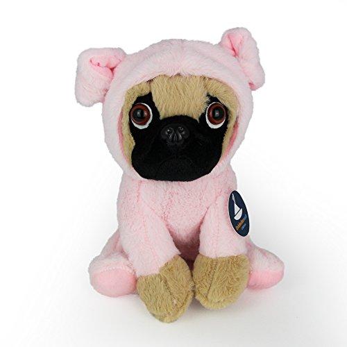 Hunde Schwein Kostüm Für - Entdeckerwelt Sitzender Mops im Schweinchen-Kostüm (H. ca. 20 cm)