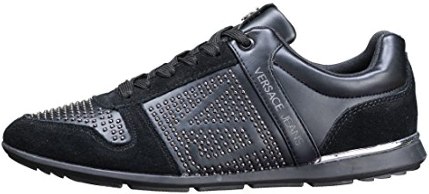 Versace Jeans Linea Fondo Tommy Dis4 Coated Studded Suede E0YRBSB370008899  Turnschuhe