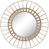 Espejo de pared minimalista dorado de metal para decoración de 50 cm Sol Naciente - Lola Derek