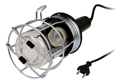 Inotech - Lámpara de mano y la antorcha con la jeringa de metal 60w e27 ip20, ho5rn-f cable de 5 m de largo