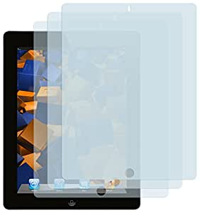 3x mumbi Displayschutzfolie für iPad 4 / iPad 3 / iPad 2 Schutzfolie CrystalClear unsichtbar