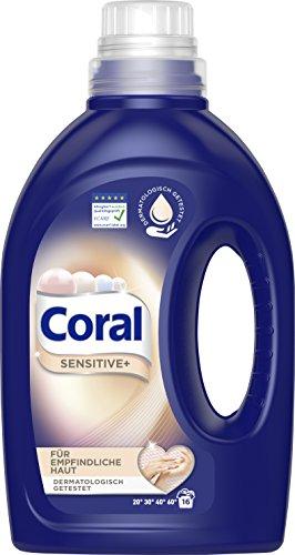 Coral Vollwaschmittel Sensitiv+ flüssig, 16 WL