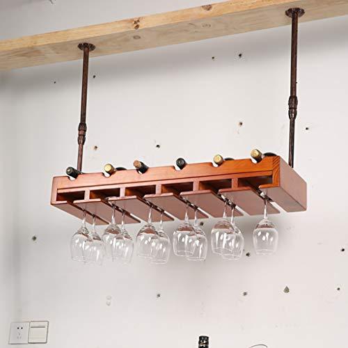 Wine Rack - Hängendes Weinregal Aus Massivem Holz, Höhenverstellbares Und Niedriges...
