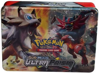 Pokemon 98 Cards in 1, Sun and Moon Ultra Prism Card Game with Metal Box  (Multicolor)