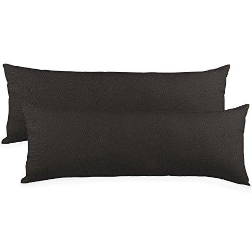 CelinaTex BeBasic Kissenbezug Doppelpack 40 x 200 cm XXL schwarz Mikrofaser Seitenschläferkissen Bezug Jersey 5001762 -