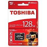 Toshiba EXCERIA M301-EA 128GB 128GB MicroSDXC UHS-I Class 10 memoria flash - Tarjeta de memoria (MicroSDXC, UHS-I, Class 10, Negro, Rojo, SD)