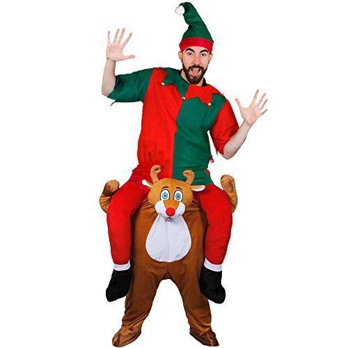 Arbeiten Kostüm Trägt Zu Ein - ILOVEFANCYDRESS TRAGE Mich-HEBE Mich HOCH-KOSTÜME VERKLEIDUNG= Weihnachten Fasching Halloween=RUDOLP DER SEINEN Helfer ZU Arbeit TRÄGT =MIT DEM SIE GARANTIERT AUFFALLEN = ELF TUNIK =MEDIUM