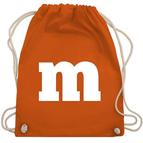 Und Eins Kostüm Was Zwei - Karneval & Fasching - Gruppen-Kostüm m Aufdruck - Unisize - Orange - WM110 - Turnbeutel & Gym Bag