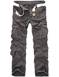 Nvfshreu 2016 Nuovi Pantaloni All Aperto Cargo Uomo da Multi Tasca Pantaloni  Stile Semplice Mimetici Skateboard Sezione… 1f1b5bd81949