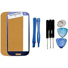 iTech Germany Samsung Galaxy S3 frontal pantalla de cristal táctil Azul - Juego de reparación de alta calidad para i9300 i9301 i9305 NEO LTE con las herramientas y Foil Adhesivo
