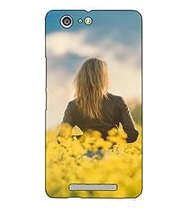 Fuson Designer Back Case Cover for Gionee Marathon M5 (A Lady In The Garden)