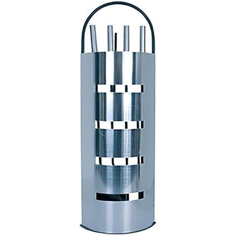 MSV de accesorios para chimenea de acero inoxidable, color plateado
