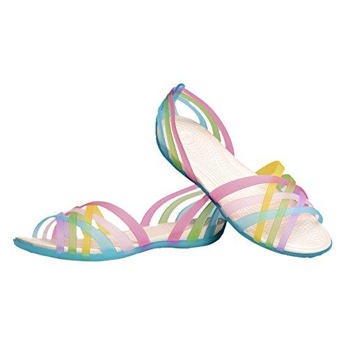 iiSport-Sandales Plates Femmes pour été nouvelle couleur de bonbons chaussures femme confortable bleu délicat