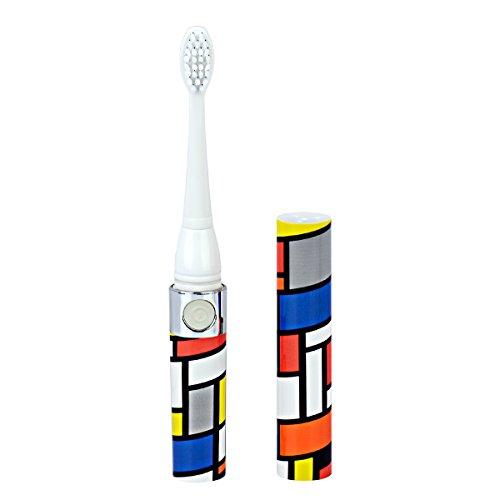 Ckeyin;Wasserdichte batteriebetriebene elektrische Zahnbürste mit zwei austauschbaren Bürstenköpfen