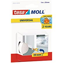 Tesa 05422-00100-00 - Burlete de espuma para umbral de puertas, 95cm x 38 mm, color blanco