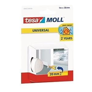 Tesa 05422-00100-00 moll UNIVERSAL Door-to-Floor Foam, White, 1m x 38mm